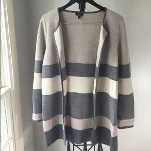 Talbot's neutral merino wool cardigan sweater, EUC